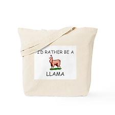 I'd Rather Be A Llama Tote Bag