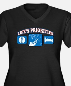 Life's Priorities Hunting Women's Plus Size V-Neck
