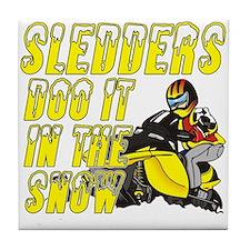 Sledders Doo Tile Coaster