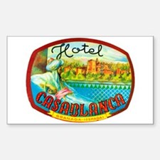 Hotel Casablanca Luggage Sticker (UnTrimmed)