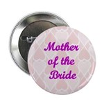 Mother of the Bride Pink Hearts Button