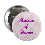 Matron of Honor Pink Hearts Button