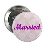 Married Pink Hearts Button