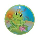 Frog Prince Ornament (Round)