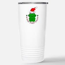 Cartoon Frog Santa Travel Mug
