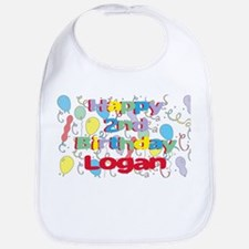 Logan's 2nd Birthday Bib