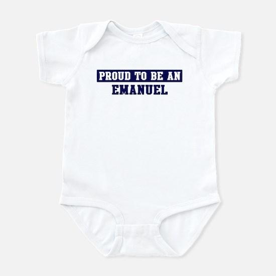 Proud to be Emanuel Infant Bodysuit