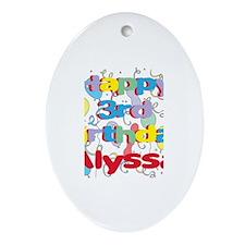 Alyssa's 3rd Birthday Oval Ornament