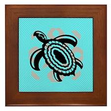 Cut Out Turtle Framed Tile