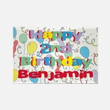 Benjamin's 2nd Birthday Rectangle Magnet