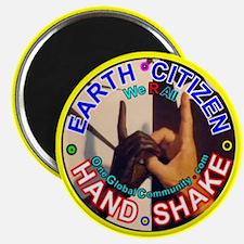 "EARTH CITIZEN Hand-Shake 2.25"" Magnet (10 pack)"
