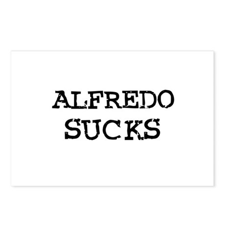 Alfredo Sucks Postcards (Package of 8)
