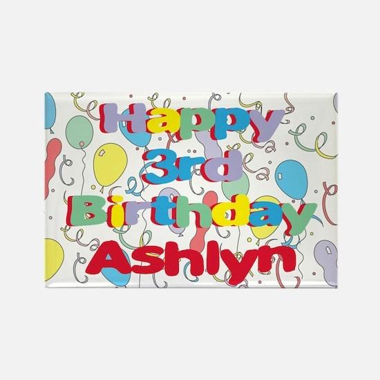 Ashlyn's 3rd Birthday Rectangle Magnet