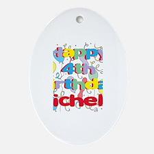 Michelle's 4th Birthday Oval Ornament