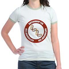 Haplogroup E3B Jr. Ringer T-Shirt