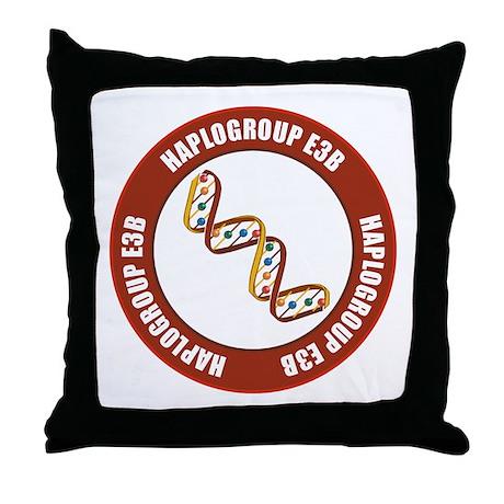 Haplogroup E3B Throw Pillow