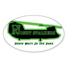 160th SOAR NightStalker's Oval Sticker (10 pk)
