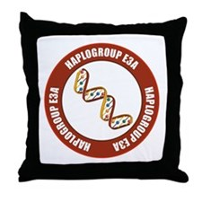 Haplogroup E3A Throw Pillow