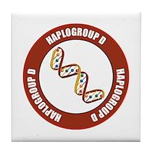 Haplogroup D Tile Coaster