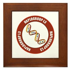 Haplogroup L3 Framed Tile