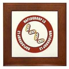 Haplogroup L3 Framed Tile