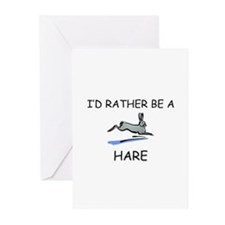 I'd Rather Be A Hare Greeting Cards (Pk of 10)