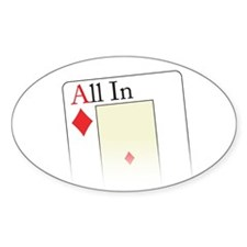 All In Ace Oval Decal