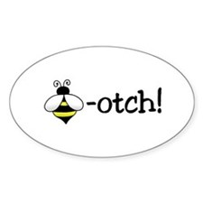Beeotch Oval Decal