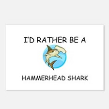 I'd Rather Be A Hammerhead Shark Postcards (Packag