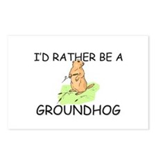 I'd Rather Be A Groundhog Postcards (Package of 8)