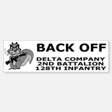 2-128th Infantry <BR>D Company Bumpersticker 3