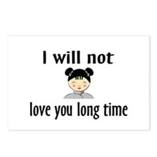 I Will Not Love You Long Time Postcards (Package o