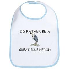 I'd Rather Be A Great Blue Heron Bib