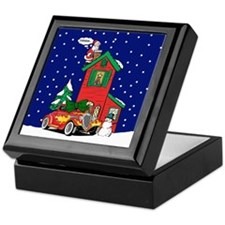 A Hot Rod For Christmas Keepsake Box