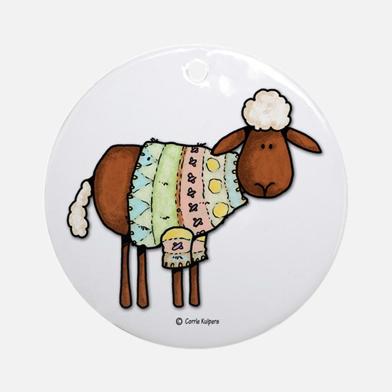 knit happens Ornament (Round)