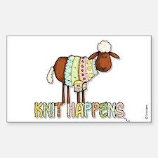 knit happens Rectangle Bumper Stickers