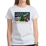 XmasMagic/Dachshund (Wire) Women's T-Shirt