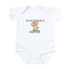 I'd Rather Be A Gopher Infant Bodysuit