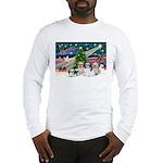 XmasMagic/4 Shih Tzus Long Sleeve T-Shirt
