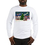 XmasMagic/2 Yorkies Long Sleeve T-Shirt