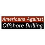 Americans Against Offshore Drilling bumper sticker