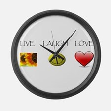 Live Laugh Love Slide Large Wall Clock