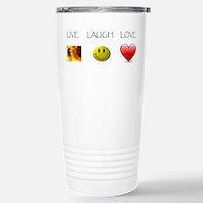 Live Laugh Love Slide Stainless Steel Travel Mug