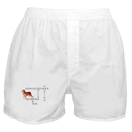 Duck toller crossword Puzzle Boxer Shorts