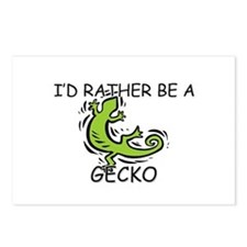 I'd Rather Be A Gecko Postcards (Package of 8)
