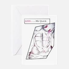 KISS-ME-QUICK Greeting Card