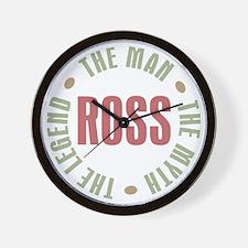 Ross Man Myth Legend Wall Clock