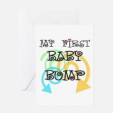 Cute first baby bump pregnancy Greeting Card