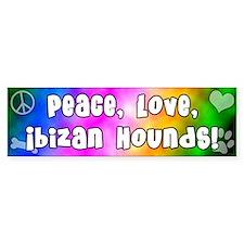 Hippie Ibizan Hound Bumper Bumper Sticker