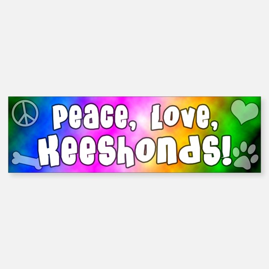 Hippie Keeshond Bumper Bumper Bumper Sticker